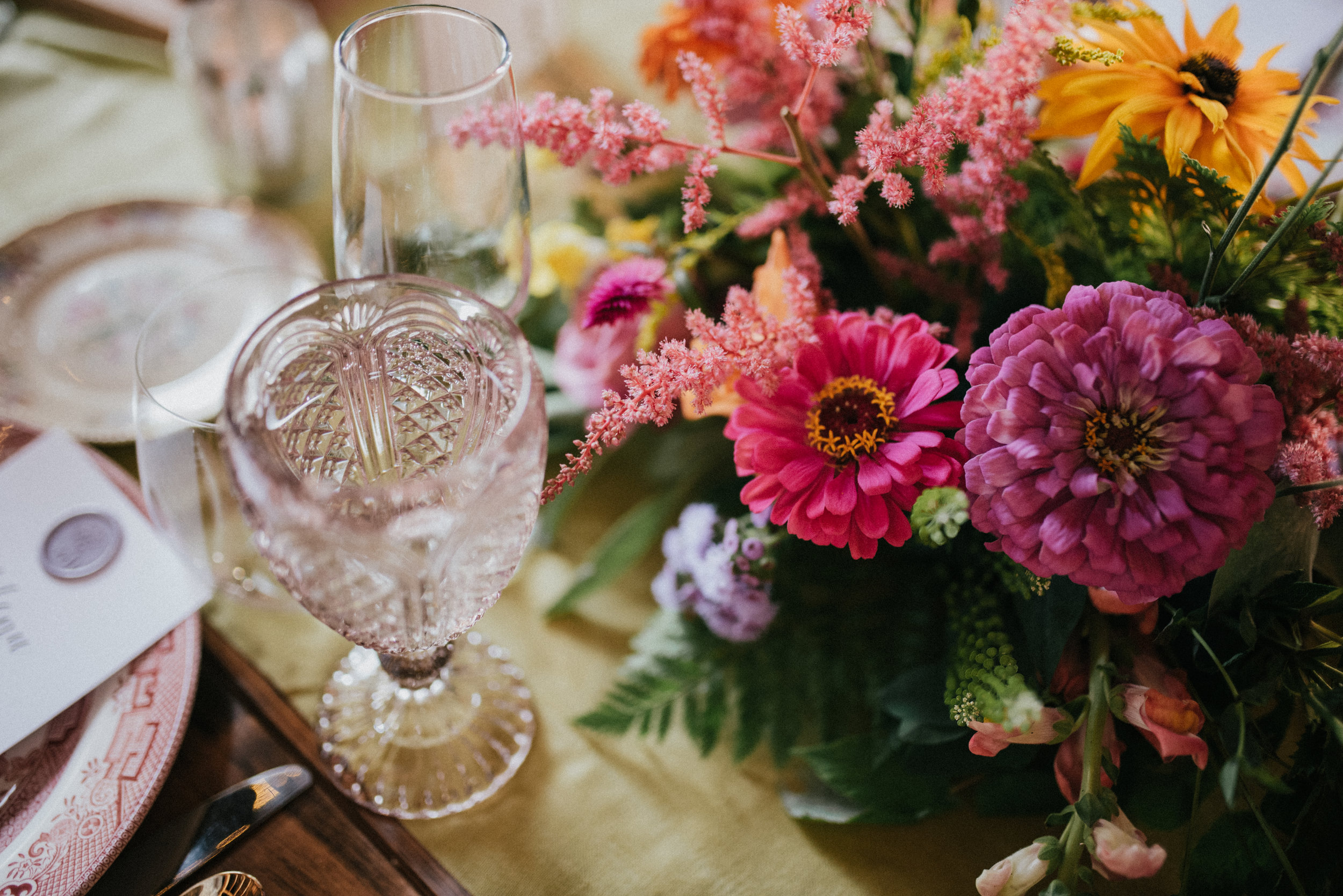 A Rainbow of Wildflowers - Real Wedding - August