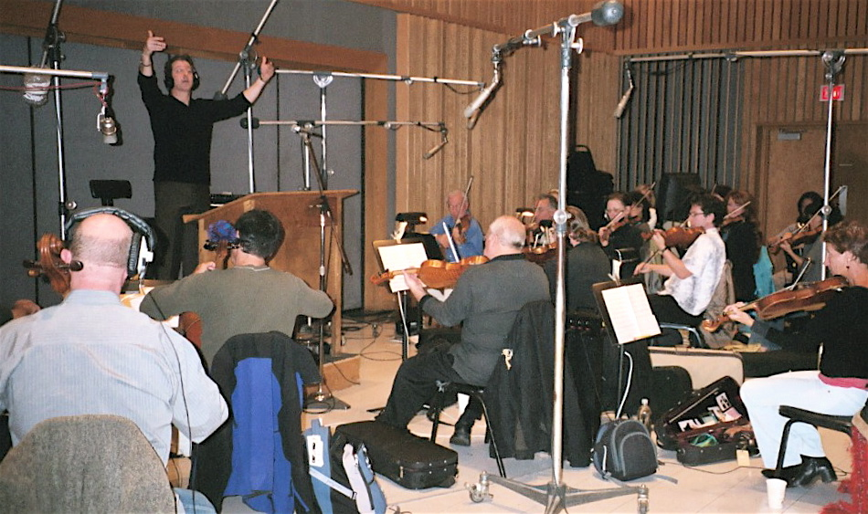 Trail of the Screaming Forehead orchestral tracking, Capitol Studio A, Chris Caliendo conductor