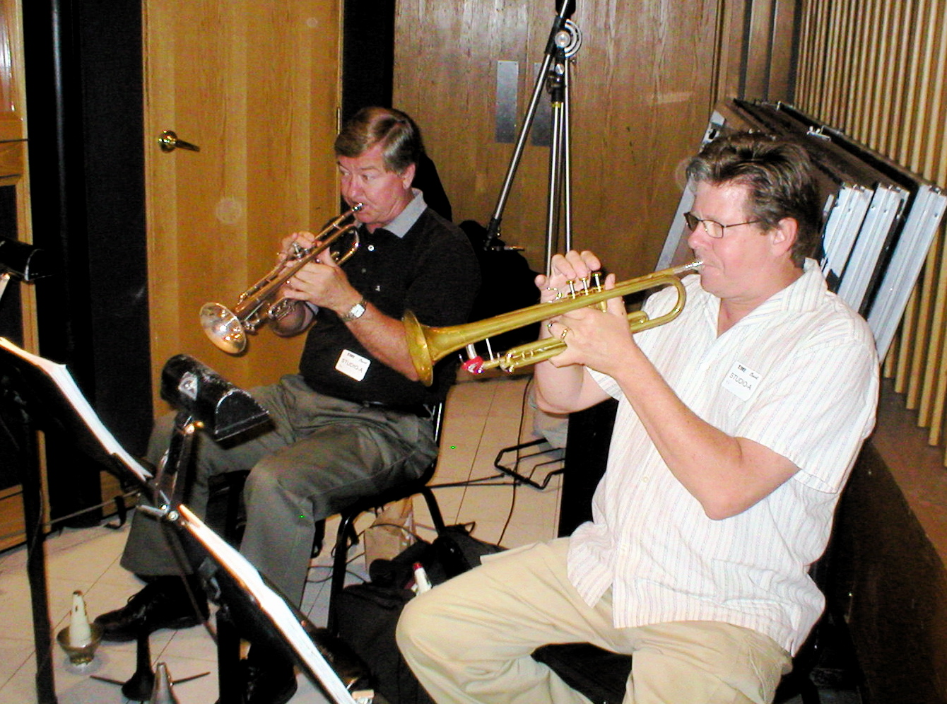 Trumpet royalty, Warren Leuning & Wayne Bergeron