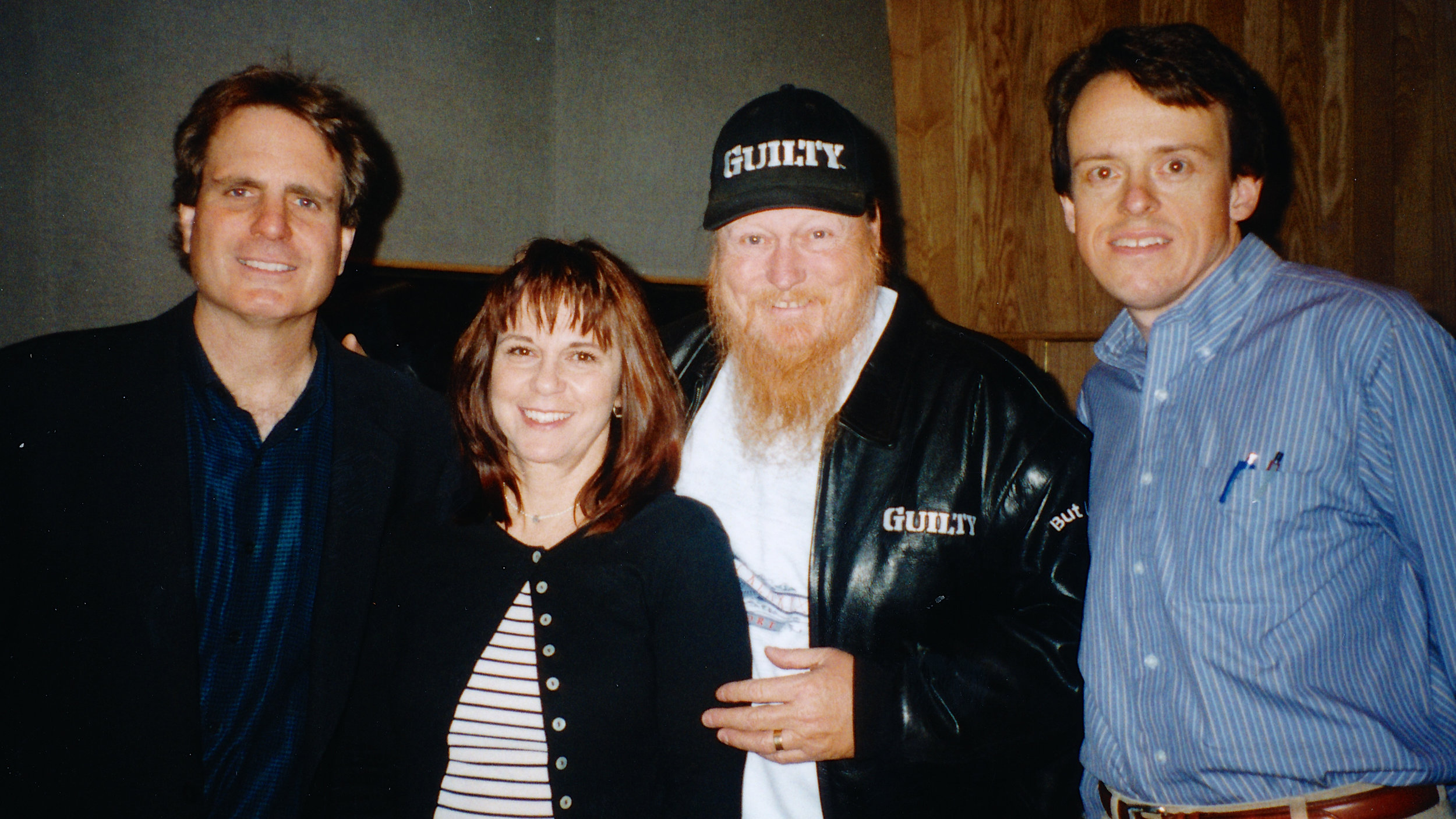 Dan Foliart, unknown, Mickey Jones and Les Brockmann, O'Henry Studio 4-9-99 Final Home Improvement Pre-record.jpg