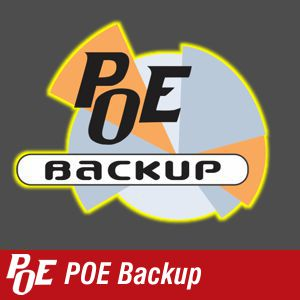 Click here  to find out more about POE's backup solutions.