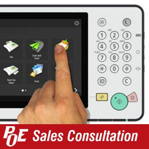 Request a sales consultation  about POE's document management solutions.