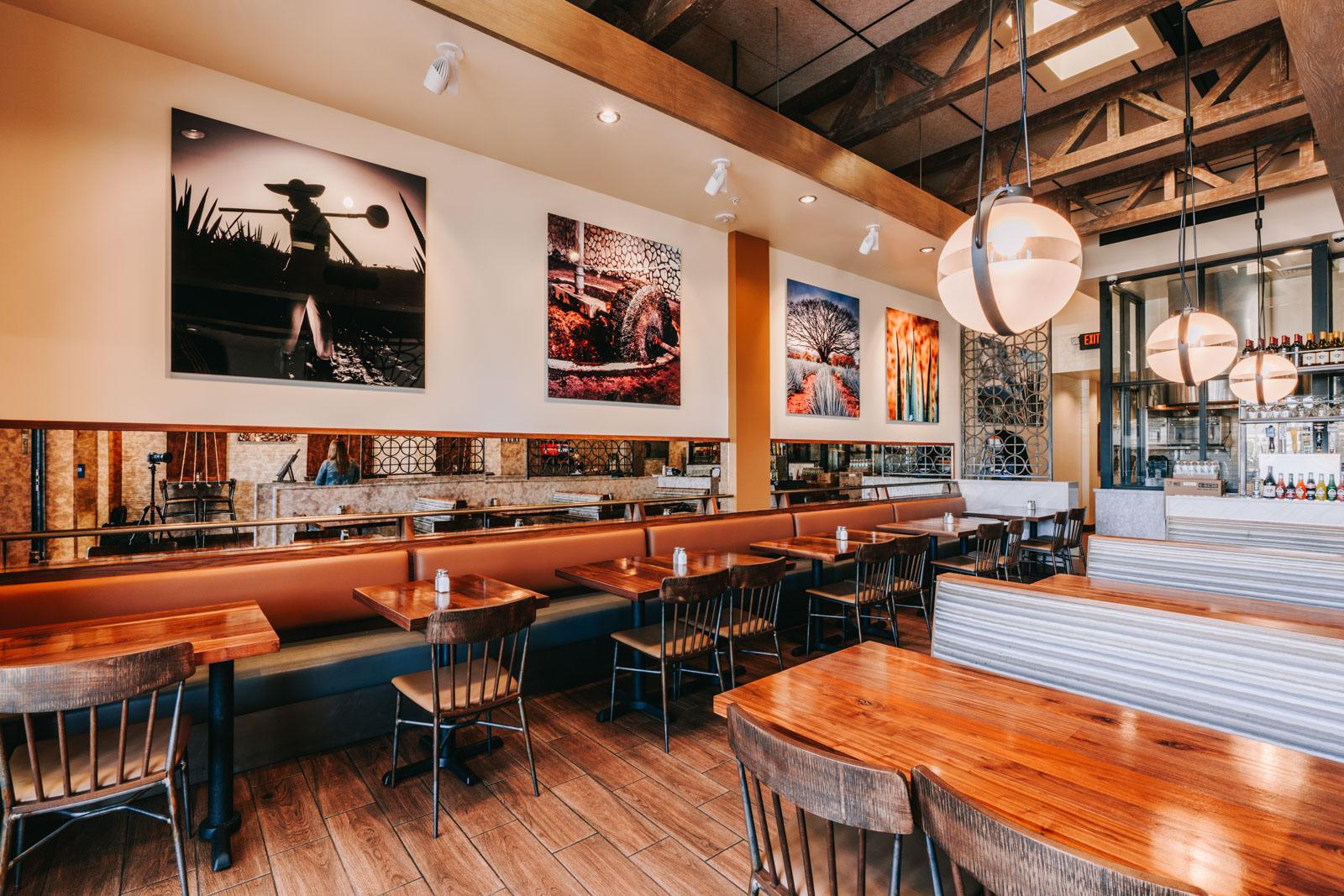 Inside Los Agaves Restaurant in Oxnard