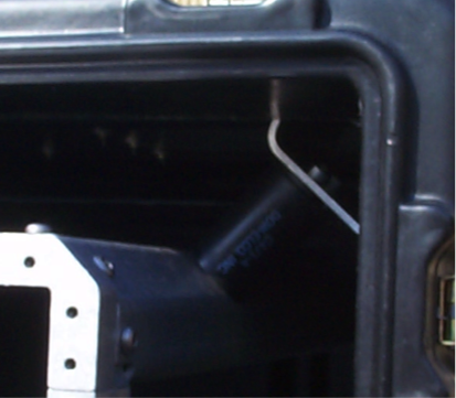 Picture of installed rubber isolator
