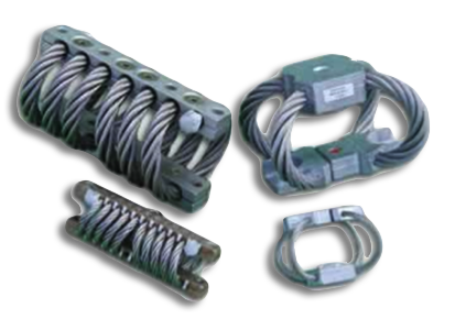 Wire isolator used for shock-mounting items