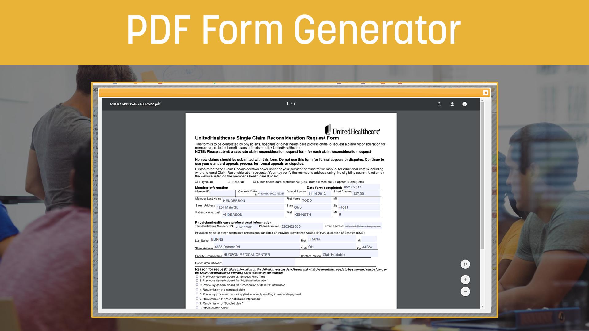 PDF Form Generator