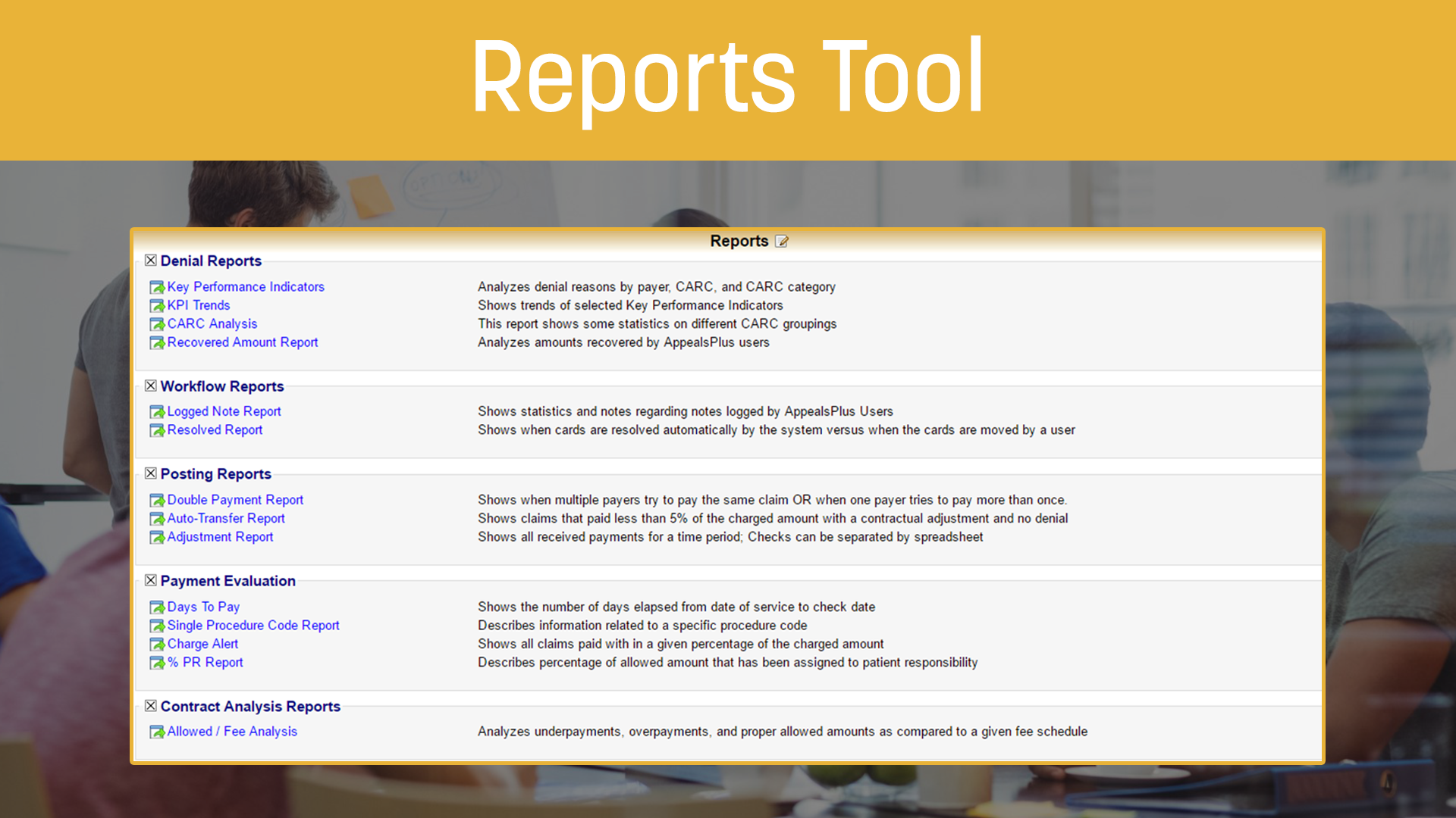 Reports Tool
