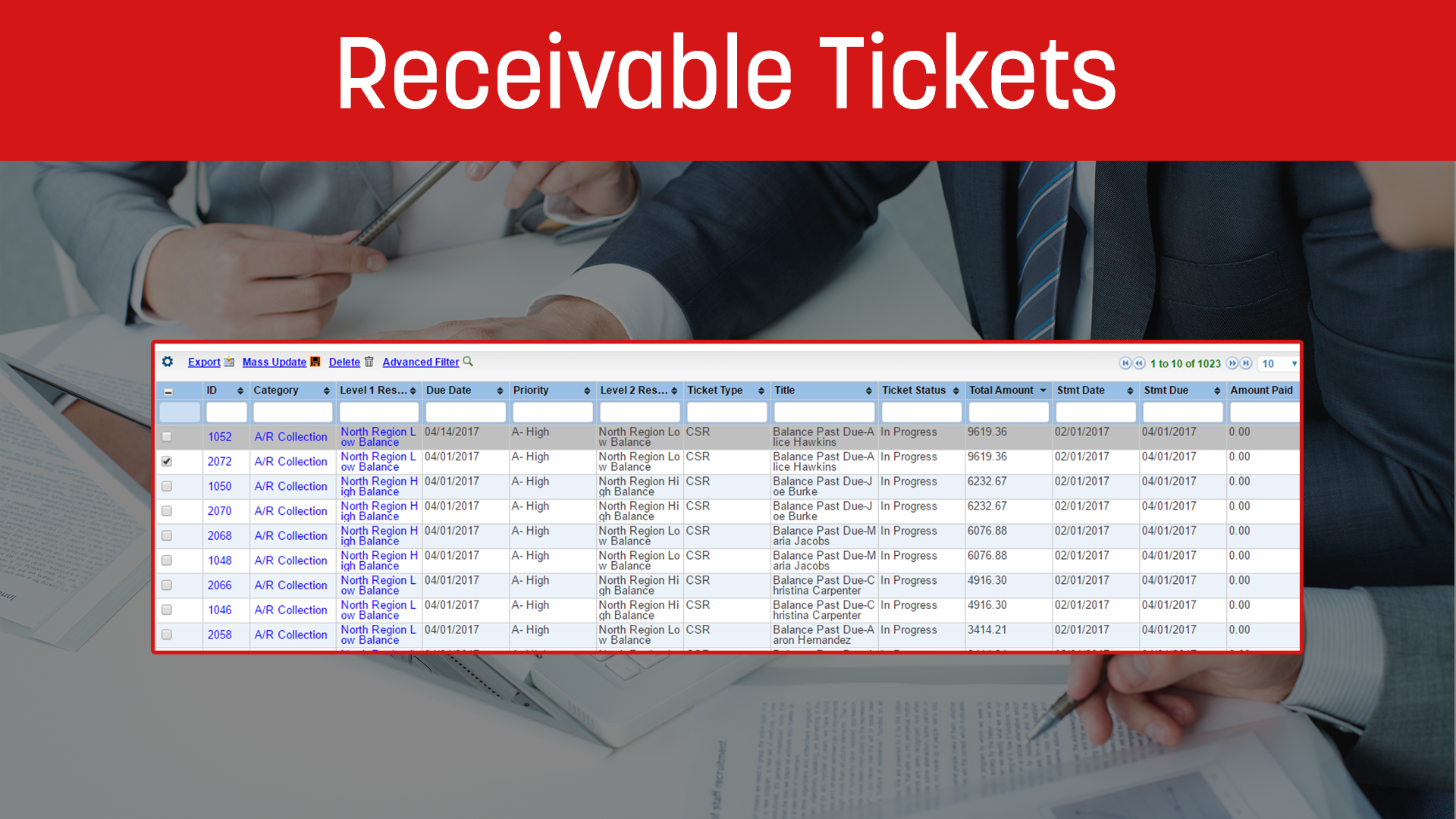 Receivable Tickets