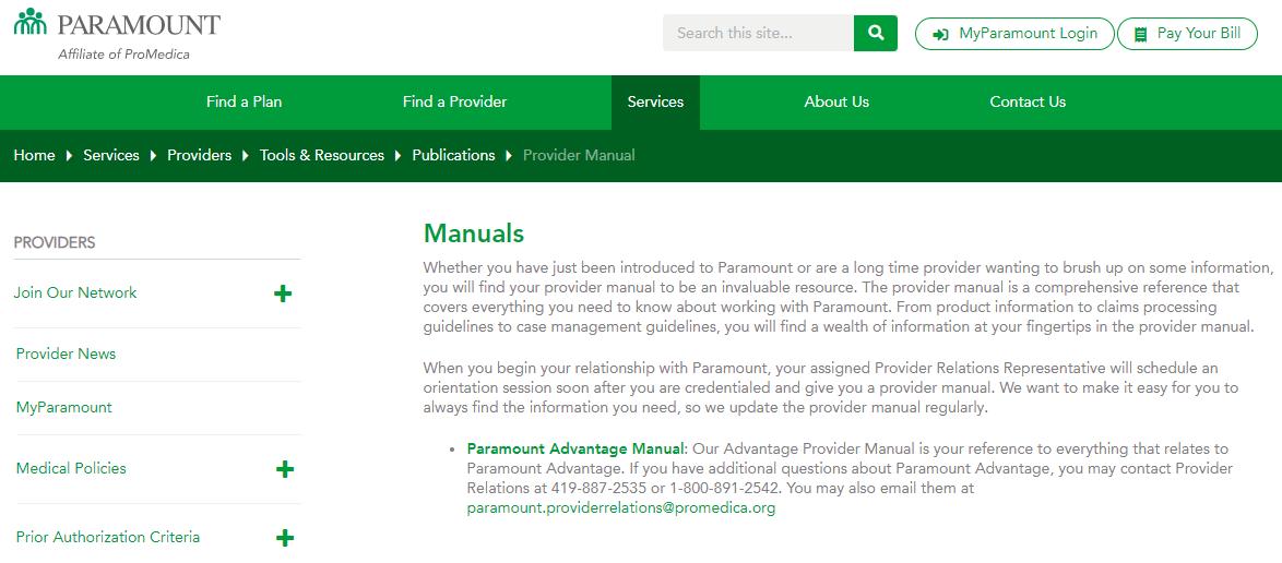 ParamountAdvantageProviderManualLandingPage.PNG