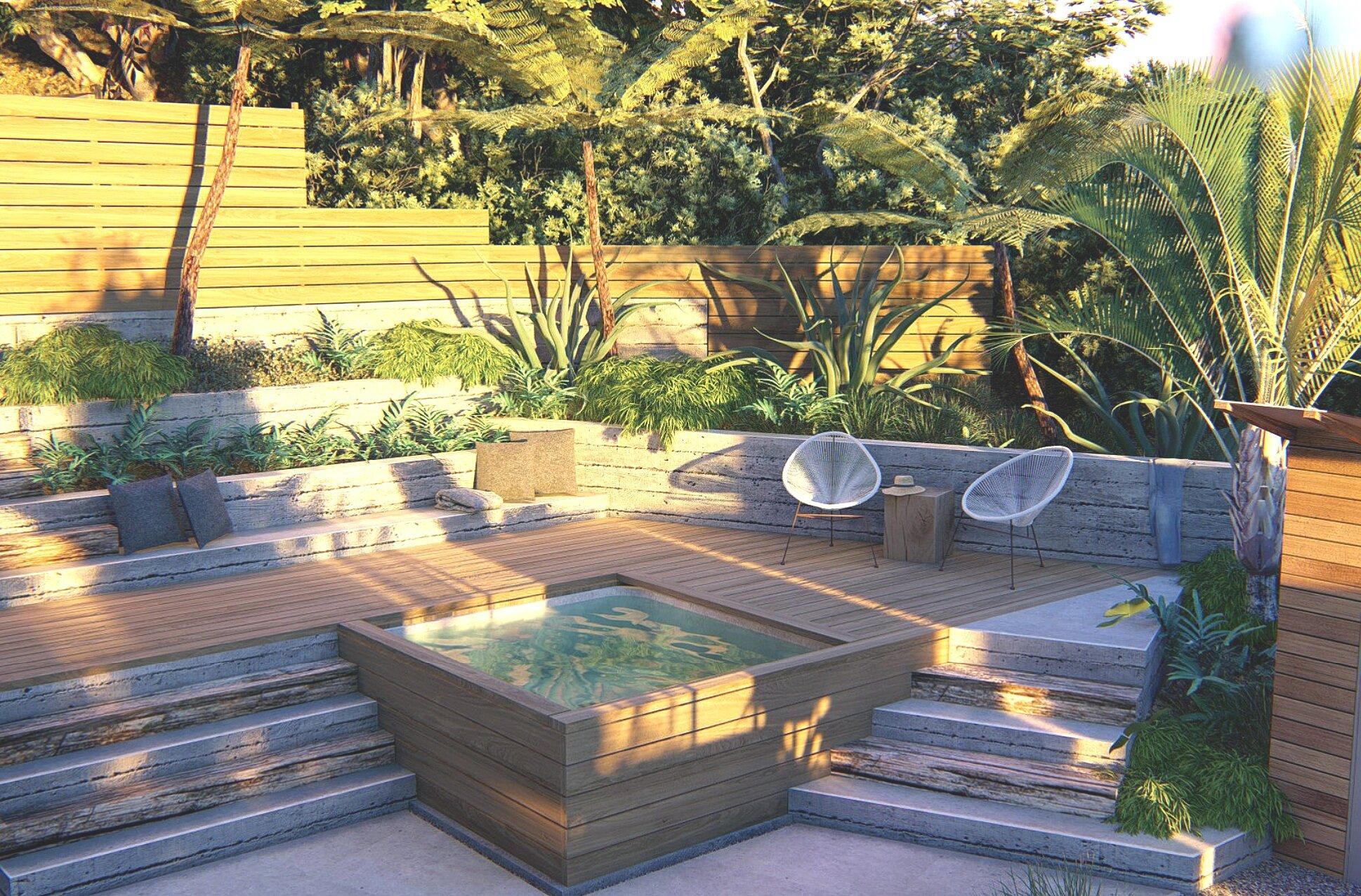 Retaining Wall Renovation Transforms A Steep Yard Yardzen Online Landscape Design
