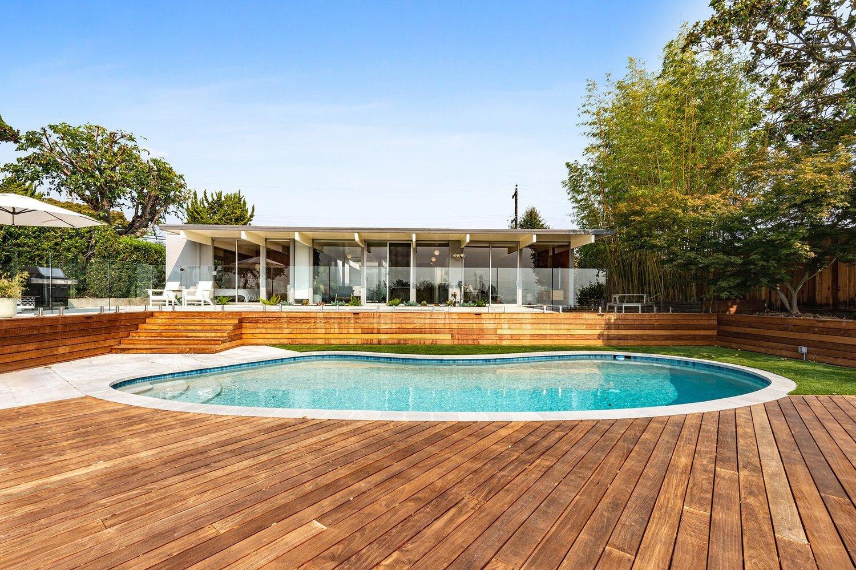 Eichler House Backyard Makeover Yardzen Online Landscape Design