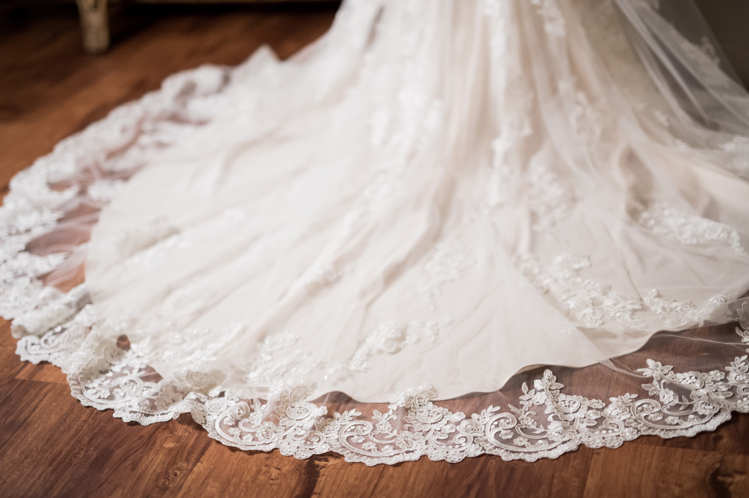 Detail shot of bride's dress.