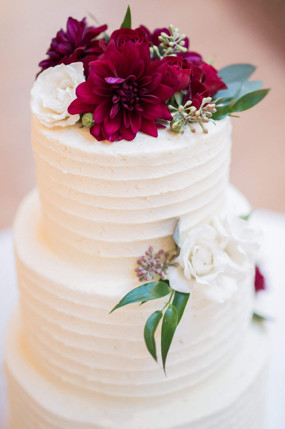 Detail shot of wedding cake.