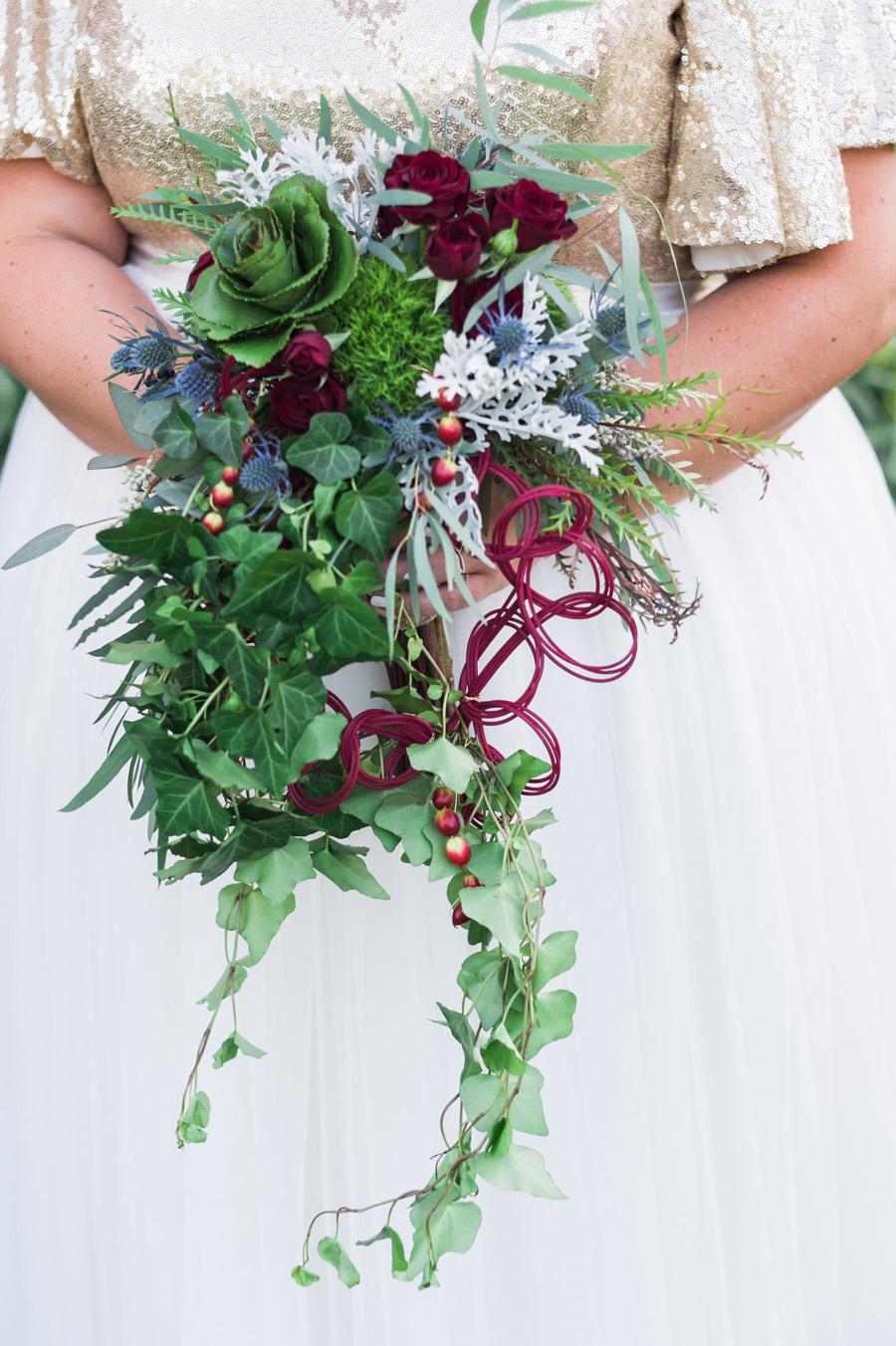 Bride's wedding bouquet.