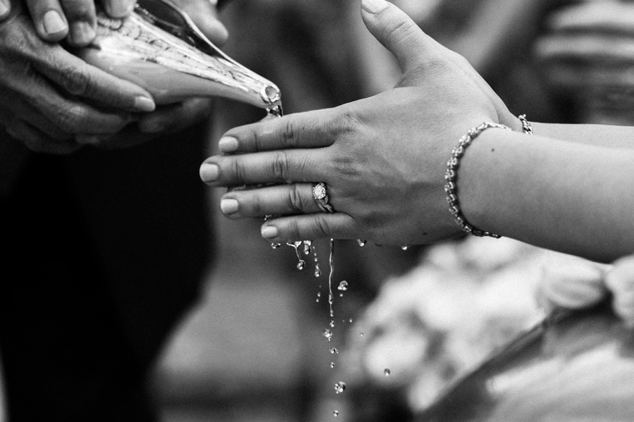 Bride's hands Thai ceremony.