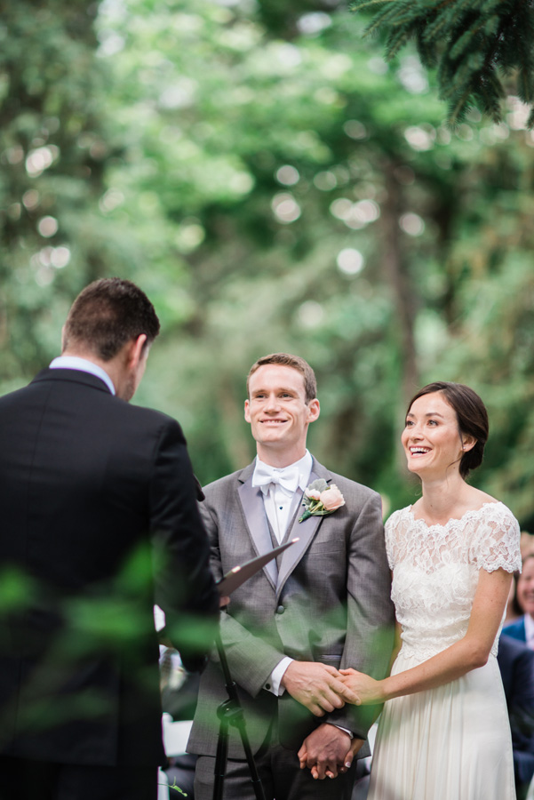 Bride and groom at their wedding ceremony.