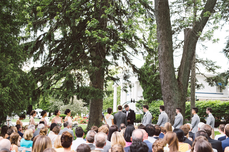 Wedding ceremony at Meson Sabika.
