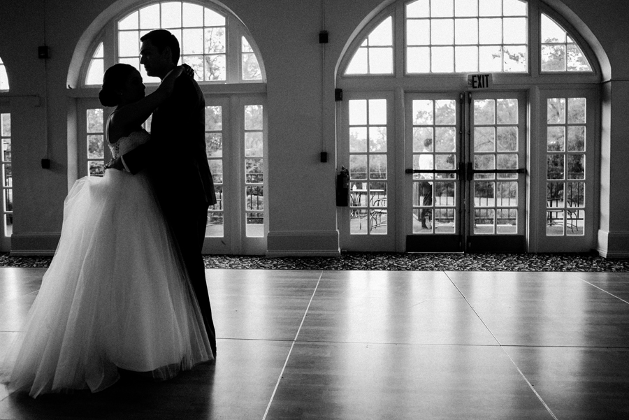 Bride and groom first dance at Ravisloe Country Club.