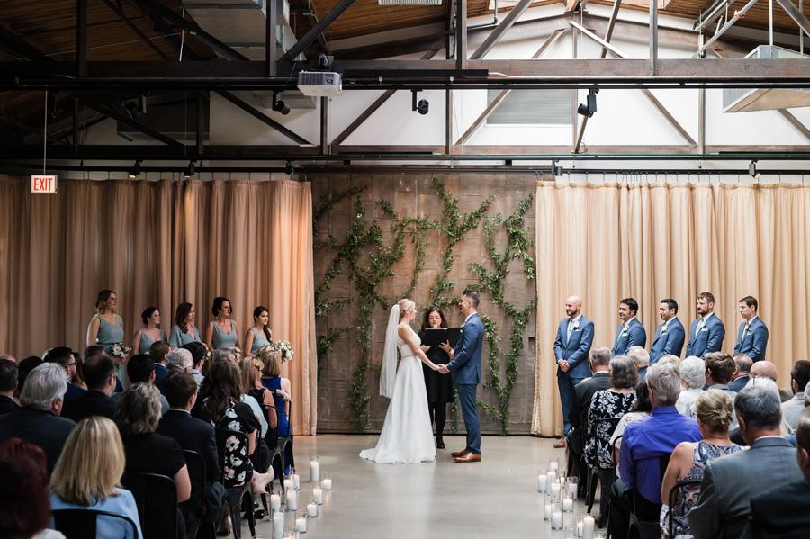 Wedding ceremony at Ovation.