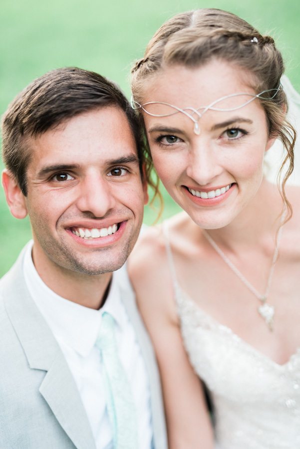 Portrait of bride and groom.