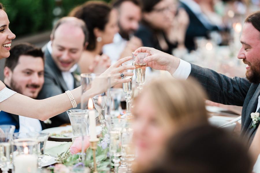 Wedding champaign toast.
