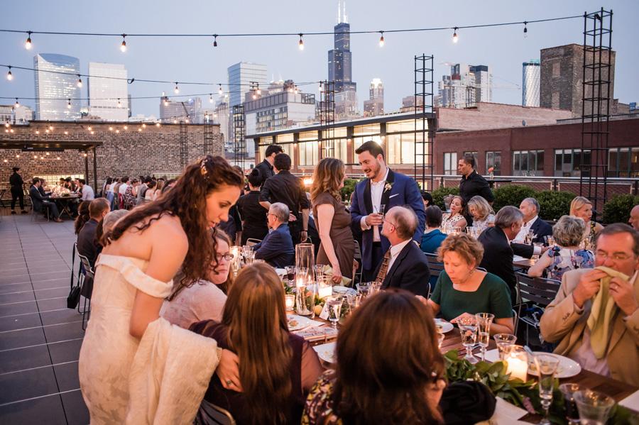 View of wedding reception at Morgan's on Fulton.