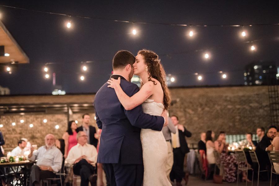 First dance at wedding reception.