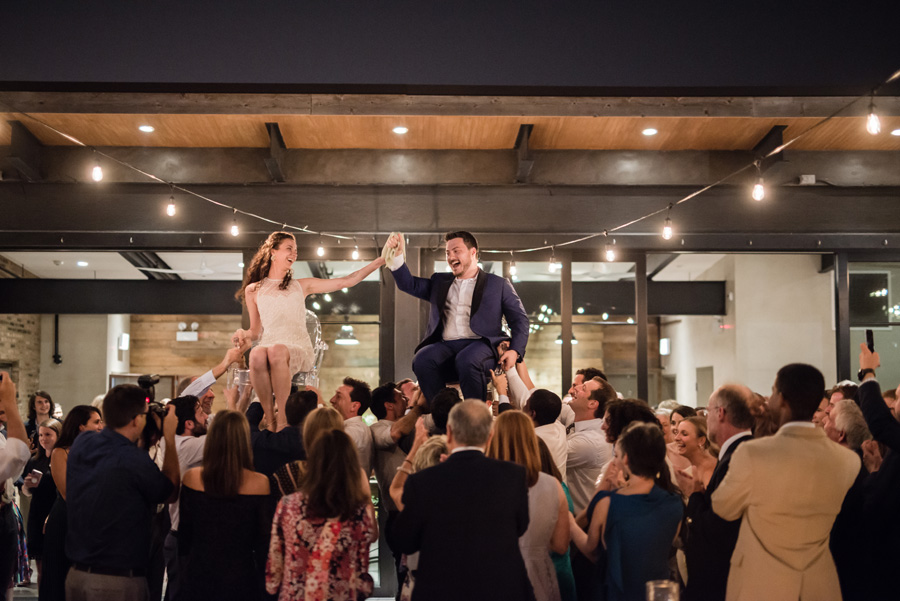 Party and dancing at Morgan's on Fulton.