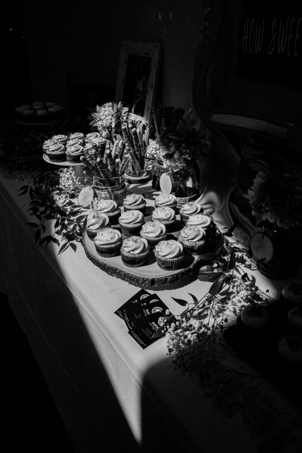Desserts at wedding reception.