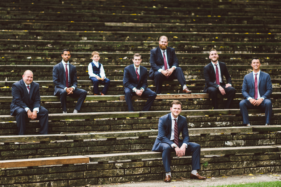 Grom and his groomsmen.