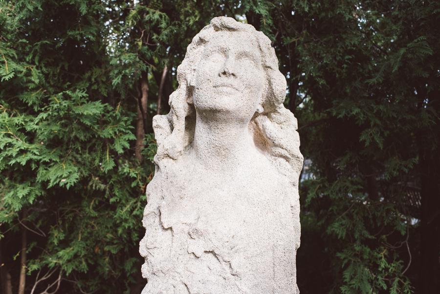 Garden sculpture at Winnetka Community House.