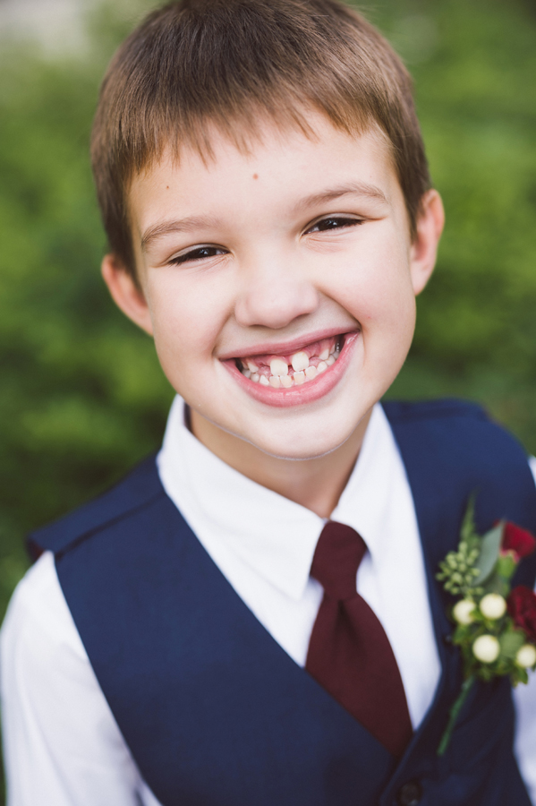 Portrait of ring bearer.