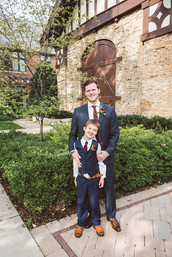 Groom and his step son.