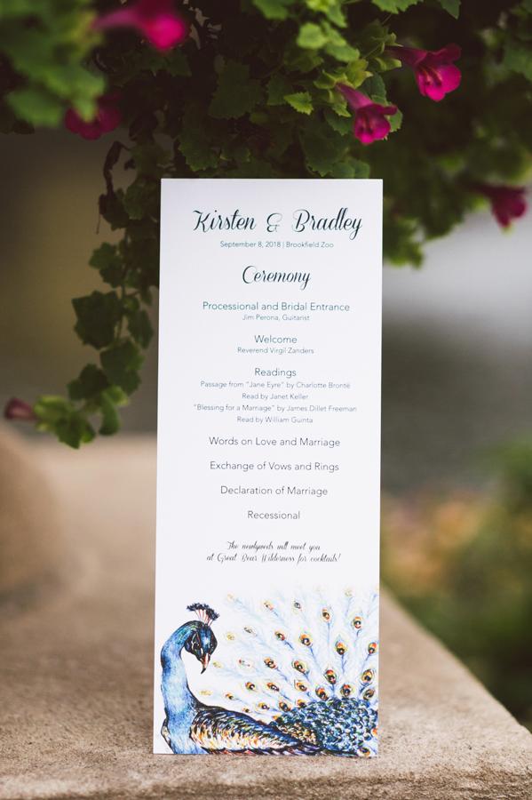 Wedding ceremony programs.