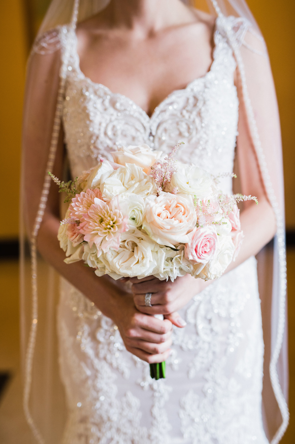 Detail shot of wedding flowers.