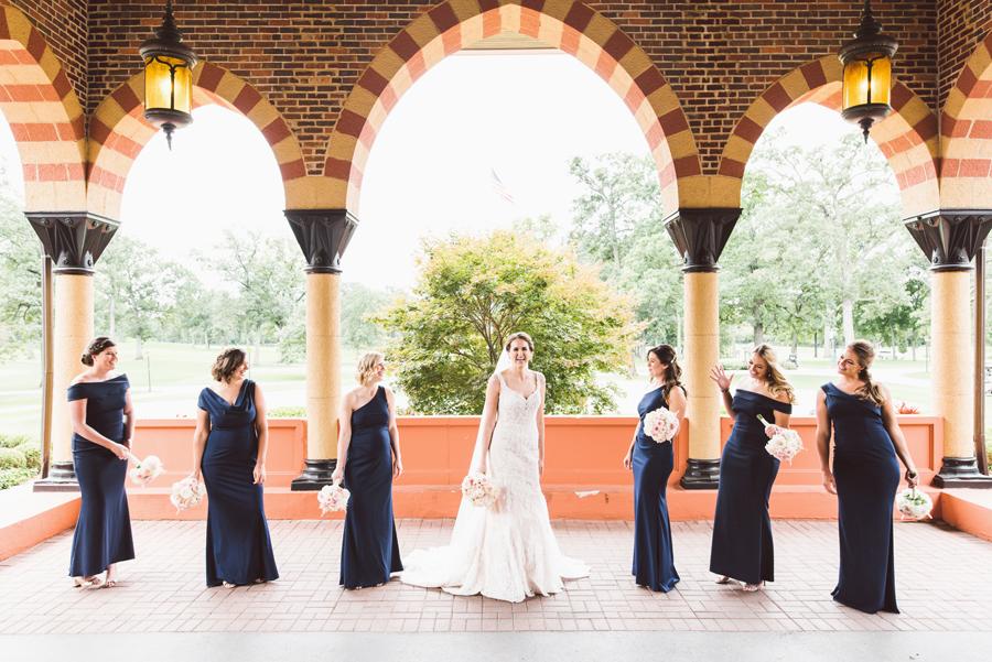 Bride and bridesmaids.