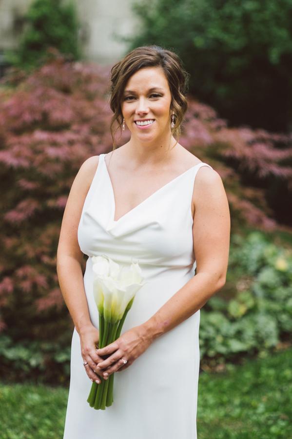 Portrait of bride at Kalamazoo college.