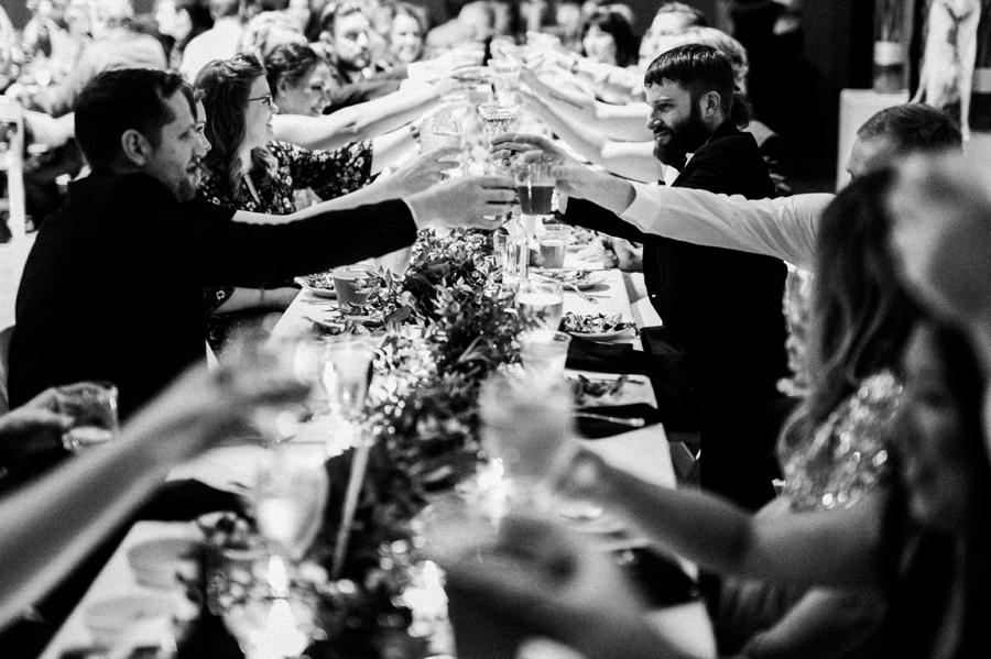 Wedding party toast.