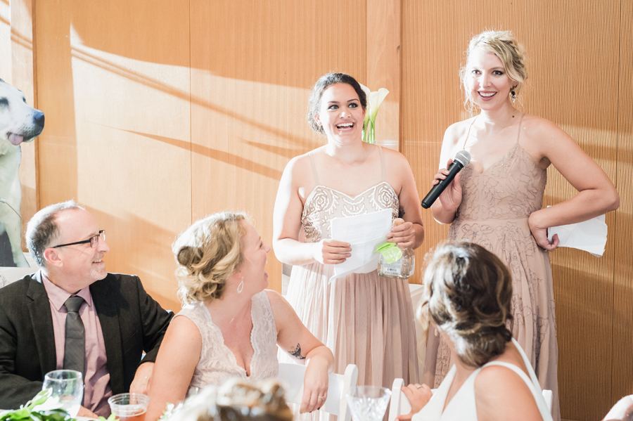 Maid of honor speeches.