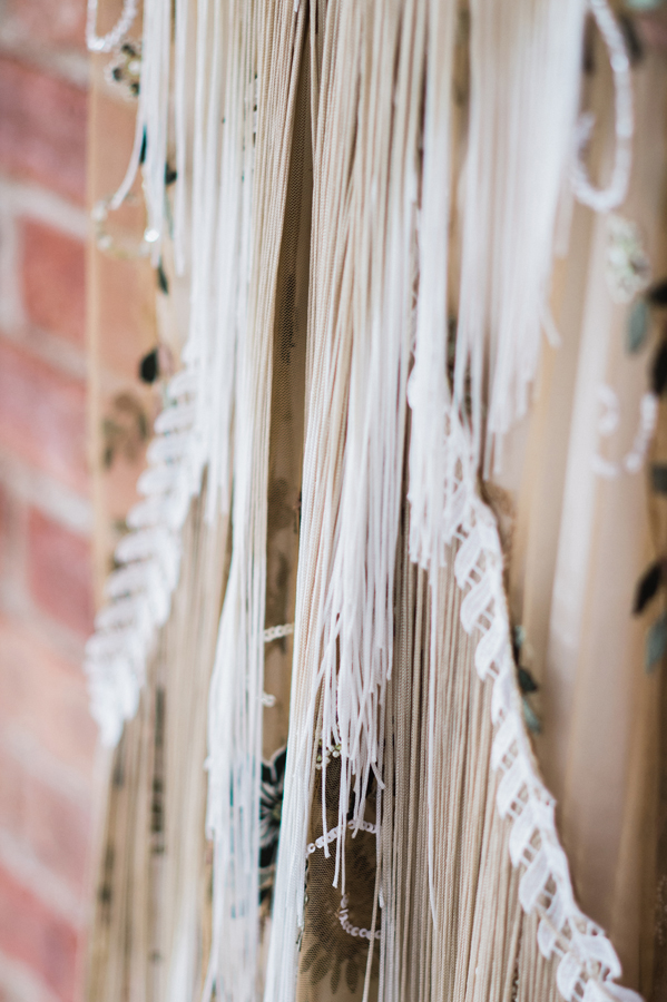 Detail of wedding dress.