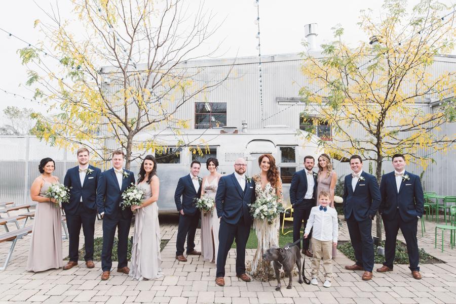 Bridal party at Warehouse 109.