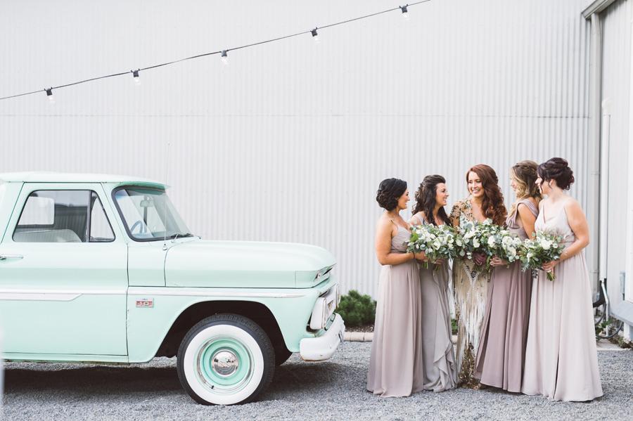 Bridesmaids at Warehouse 109.