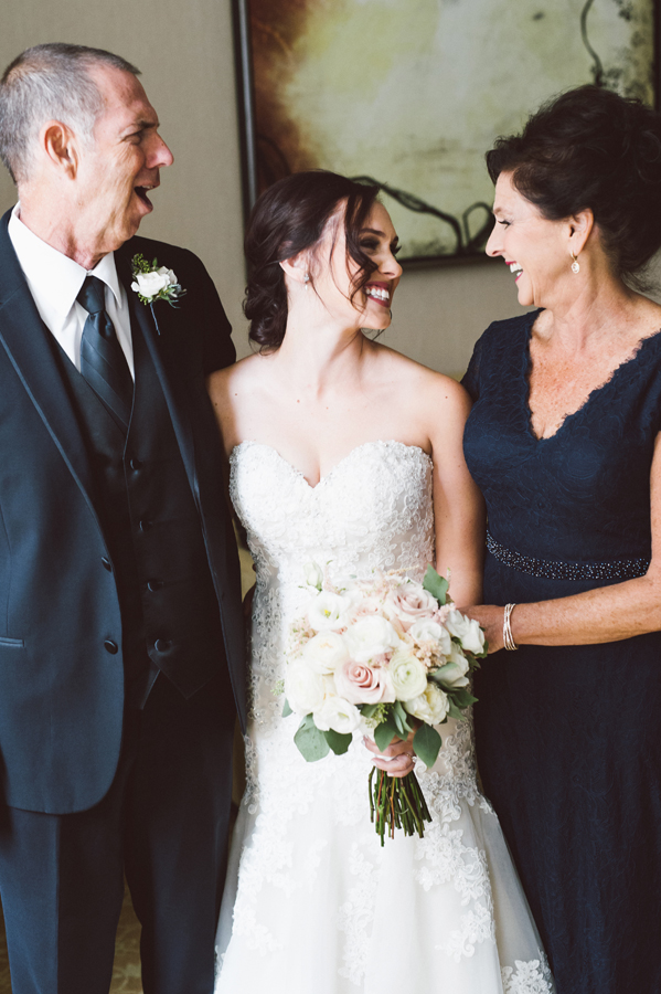 Bride and her parents.