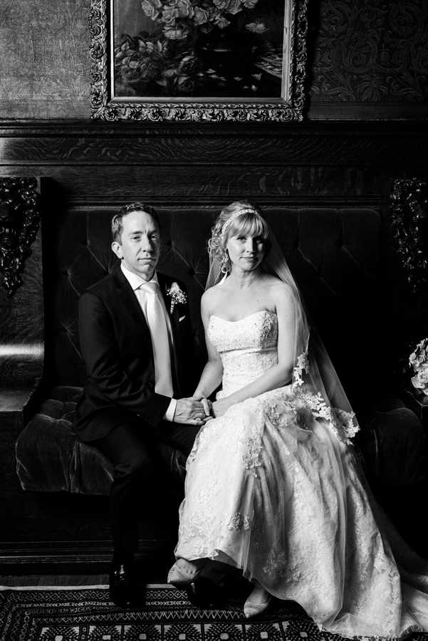Portrait of bride and groom at Pleasant Home.