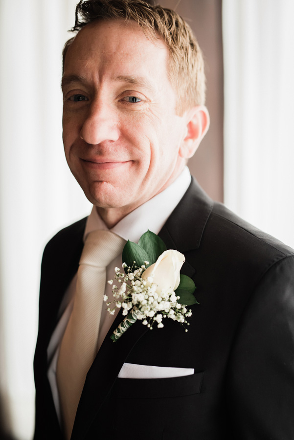 Portrait of groom at Pleasant Home.