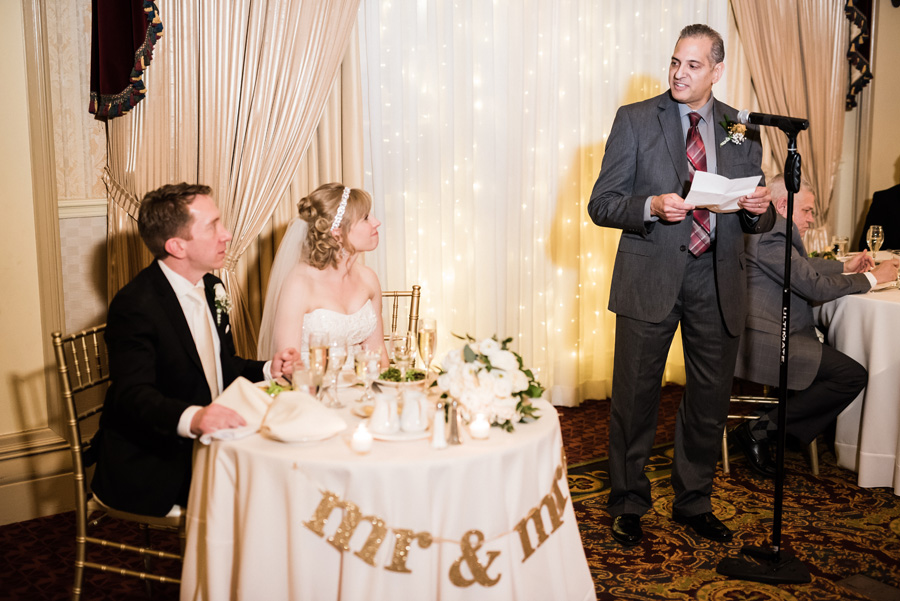Wedding reception at the Carleton in Oak Park.