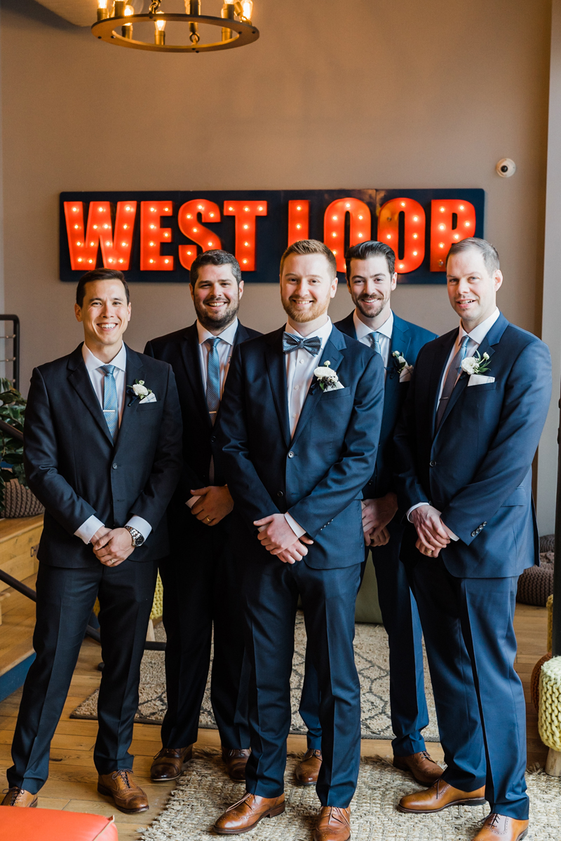 Groomsmen portrait at We Work.