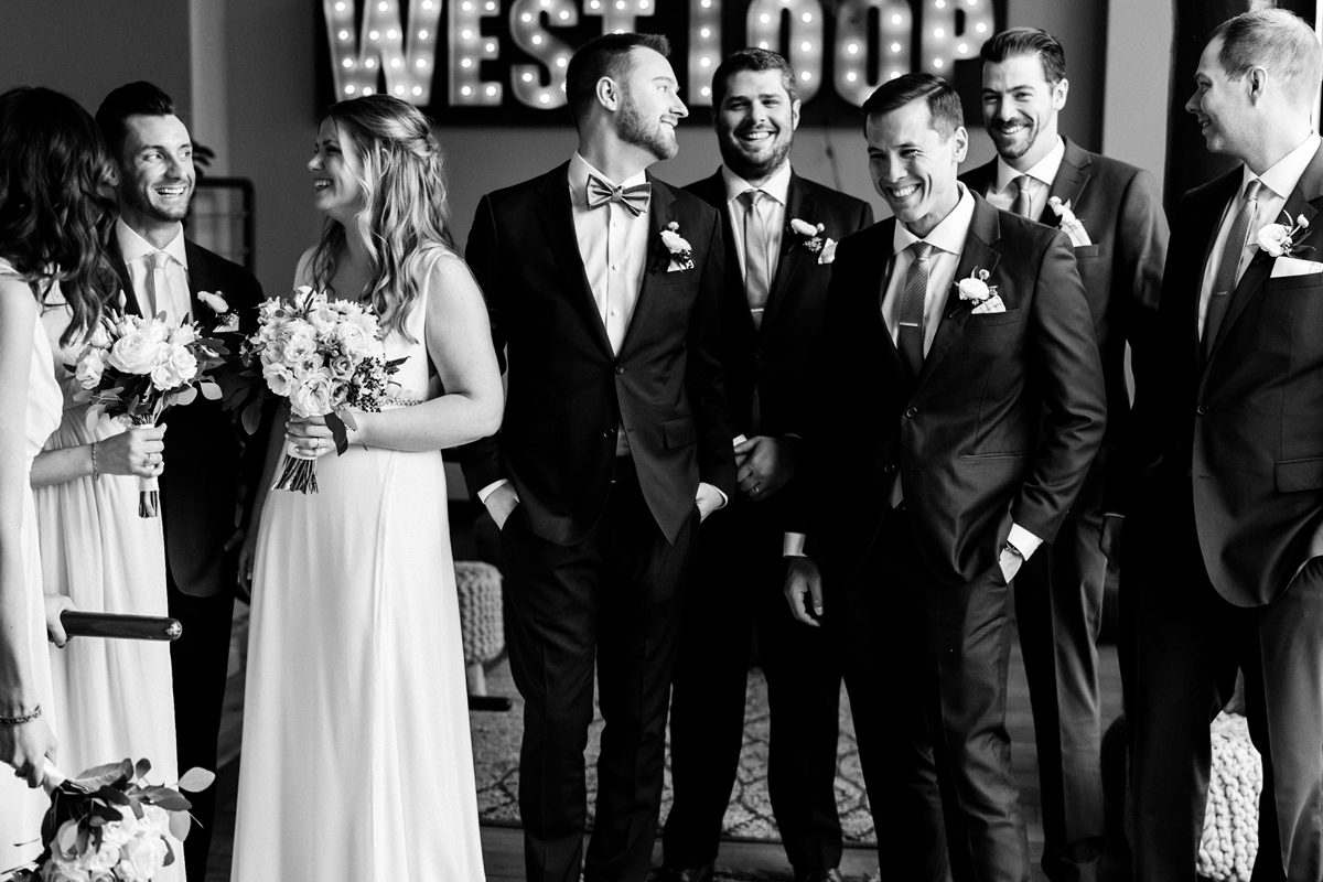 Bridal party candid.