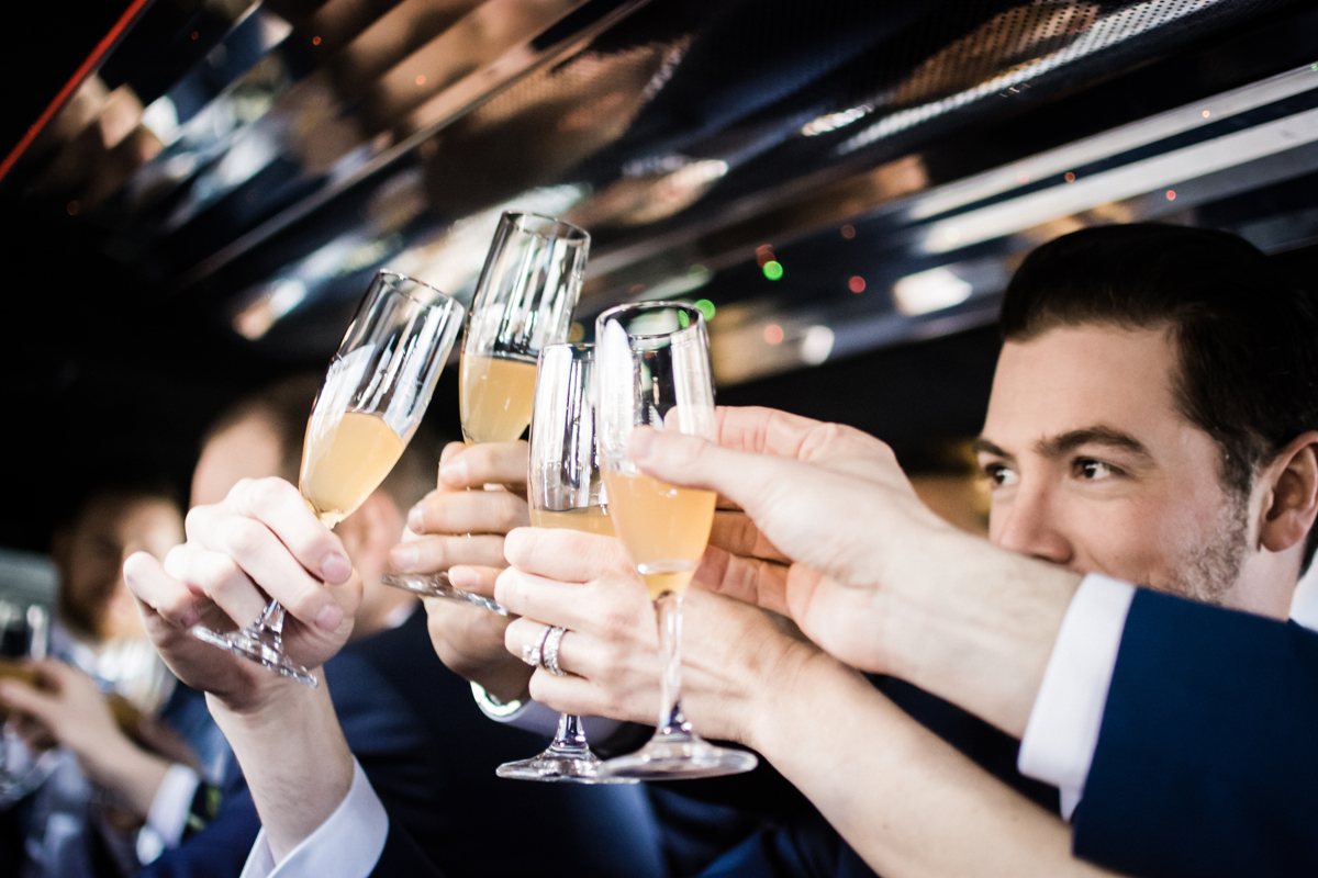 Bridal party toast.