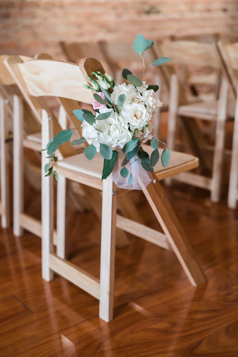 Floral detail at ceremony.